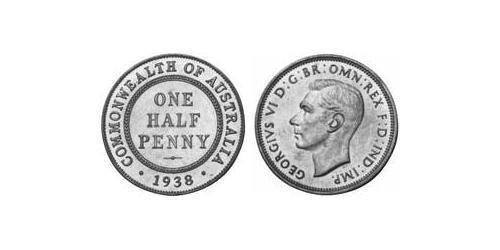 1 Penny Australia (1939 - ) Bronce Jorge VI (1895-1952)
