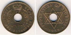 1 Penny Nigeria Bronce