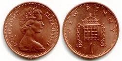 1 Penny Reino Unido (1922-) Bronce Isabel II (1926-)