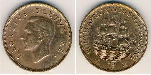 1 Penny Sudáfrica Bronce Jorge VI (1895-1952)