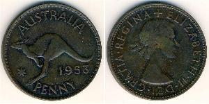 1 Penny Australia (1939 - ) Bronze Elizabeth II (1926-)