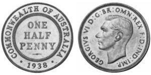 1 Penny Australia (1939 - ) Bronze George VI (1895-1952)