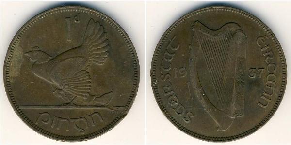 1 Penny Ireland (1922 - ) Bronze
