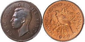 1 Penny New Zealand Bronze George VI (1895-1952)