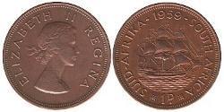 1 Penny Südafrika Bronze Elizabeth II (1926-)