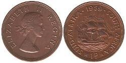 1 Penny South Africa Bronze Elizabeth II (1926-)