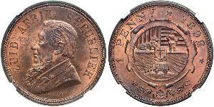 1 Penny South Africa Bronze Paul Kruger (1825 - 1904)