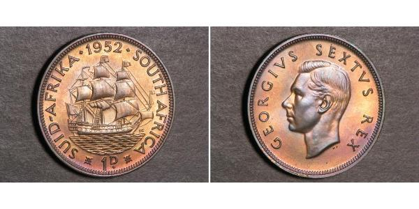 1 Penny South Africa Bronze George VI (1895-1952)
