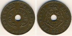 1 Penny Southern Rhodesia (1923-1980) Bronze George VI (1895-1952)