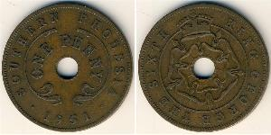 1 Penny Southern Rhodesia (1923-1980) Bronze George VI (1895-1952)