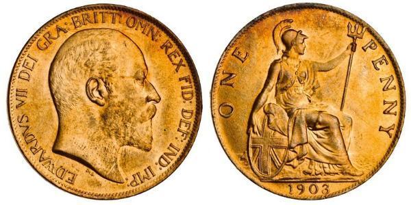 1 Penny United Kingdom of Great Britain and Ireland (1801-1922) Bronze Edward VII (1841-1910)