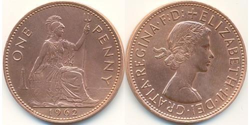 1 Penny Vereinigtes Königreich (1922-) Bronze Elizabeth II (1926-)