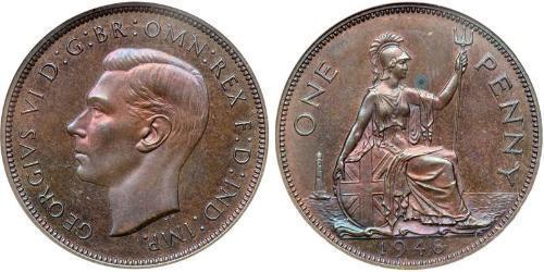 1 Penny Vereinigtes Königreich (1922-) Bronze Georg VI (1895-1952)