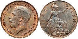 1 Penny Vereinigtes Königreich von Großbritannien und Irland (1801-1922) Bronze George V (1865-1936)