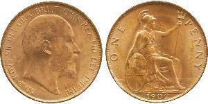 1 Penny Vereinigtes Königreich von Großbritannien und Irland (1801-1922) Bronze Eduard VII (1841-1910)