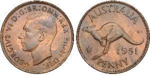 1 Penny Australia (1939 - ) Bronzo Giorgio VI (1895-1952)