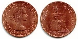 1 Penny Regno Unito (1922-) Bronzo Elisabetta II (1926-)