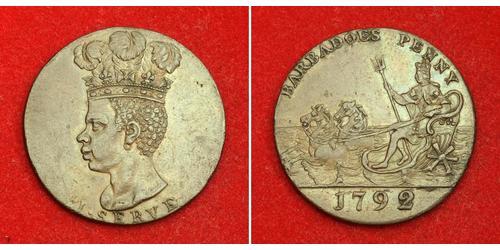 1 Penny Barbados Cobre