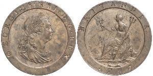 1 Penny Reino de Gran Bretaña (1707-1801) Cobre Jorge III (1738-1820)