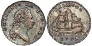1 Penny Bermuda Copper George III (1738-1820)