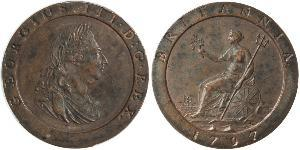 1 Penny Kingdom of Great Britain (1707-1801) Copper George III (1738-1820)