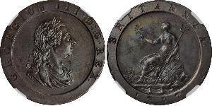 1 Penny Kingdom of Great Britain (1707-1801) Copper George III (1738-1820)