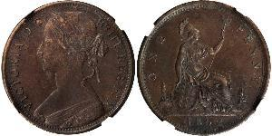 1 Penny United Kingdom of Great Britain and Ireland (1801-1922) Copper Victoria (1819 - 1901)
