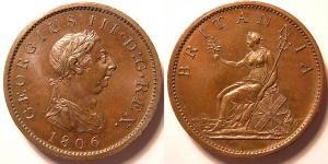 1 Penny United Kingdom of Great Britain and Ireland (1801-1922) Copper George III (1738-1820)