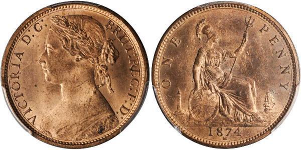 1 Penny United Kingdom of Great Britain and Ireland (1801-1922) Copper Victoria (1819 - 1901)