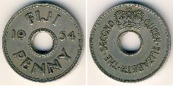 1 Penny Fiji Copper/Nickel Elizabeth II (1926-)