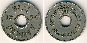 1 Penny Fiji Copper/Nickel Elizabeth II (1926-)