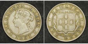 1 Penny Jamaica (1962 - ) Copper/Nickel Victoria (1819 - 1901)