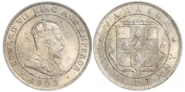 1 Penny Jamaica (1962 - ) Copper/Nickel Edward VII (1841-1910)