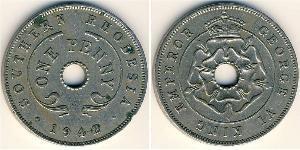 1 Penny Southern Rhodesia (1923-1980) Copper/Nickel George VI (1895-1952)