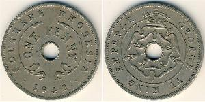 1 Penny Southern Rhodesia (1923-1980) Copper/Nickel George VI (1895-1952)