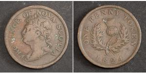 1 Penny Canada Cuivre