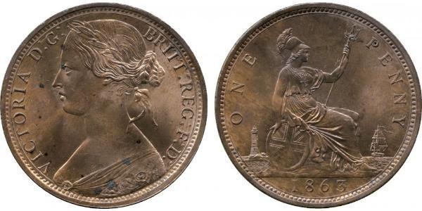 1 Penny Royaume-Uni de Grande-Bretagne et d