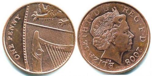 1 Penny Feriind Kiningrik (1922-) Cuivre/Acier Elizabeth II (1926-)