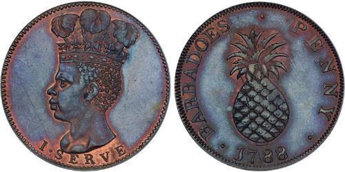 1 Penny Barbados Kupfer