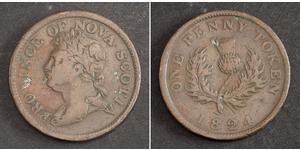 1 Penny Kanada Kupfer