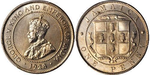 Münze 1 Penny Jamaika 1962 Kupfernickel 1920 Preis Km 26