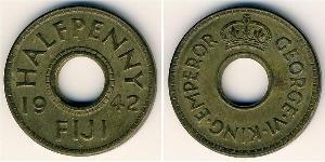 1 Penny Fidji Laiton George VI (1895-1952)