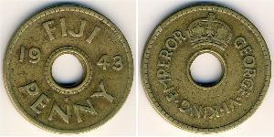 1 Penny Fiyi Latón Jorge VI (1895-1952)