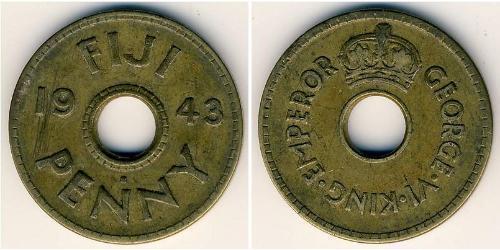 1 Penny Fidschi Messing Georg VI (1895-1952)
