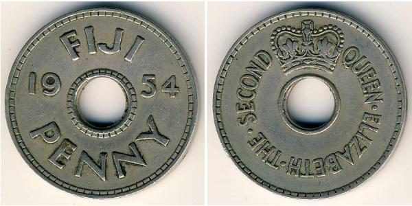 1 Penny Fiyi Níquel/Cobre Isabel II (1926-)