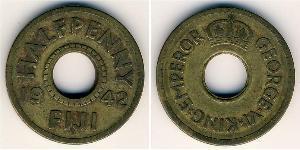 1 Penny Figi Ottone Giorgio VI (1895-1952)