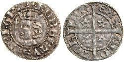 1 Penny Reino de Escocia (843-1707) Plata Robert I of Scotland (1274-1329)