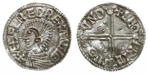 1 Penny Reino de Inglaterra (927-1649,1660-1707) Plata Aethelred II (968 - 1016)