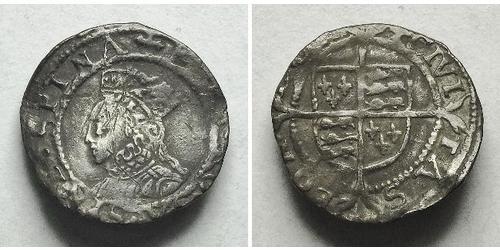 1 Penny Reino de Inglaterra (927-1649,1660-1707) Plata Isabel I (1533-1603)