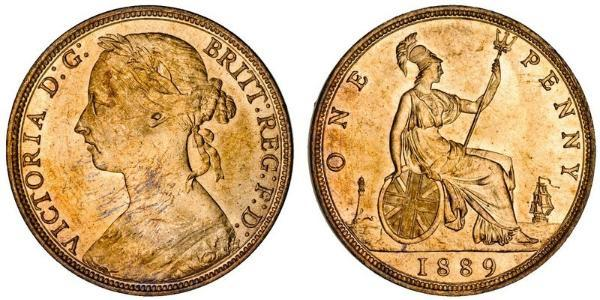 1 Penny Regno Unito di Gran Bretagna e Irlanda (1801-1922) Rame Vittoria (1819 - 1901)